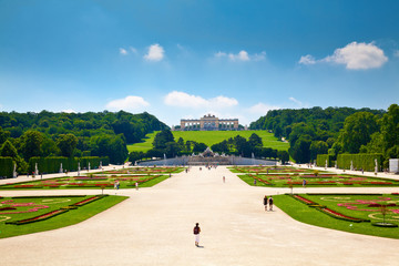 Gloriette and Schonbrunn Palace Garden