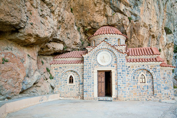 Church built under the rock