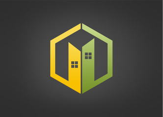 building construction real estate logo