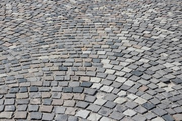 Cobblestone background in Budapest