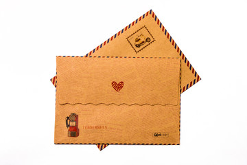 Brown gift envelope