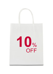 The word 10% off