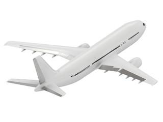 Big white passenger airliner