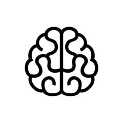 Brain Icon. Vector on White Background