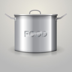 Illustration of high aluminum saucepan