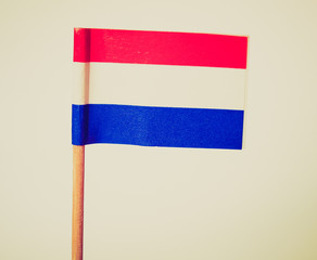 Retro look Luxembourg flag
