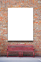 Blank outdoor advertising billboard