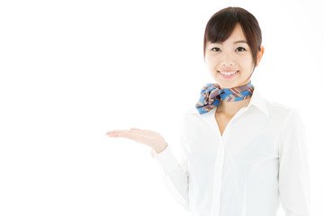 portrait of asian businesswoman on white background
