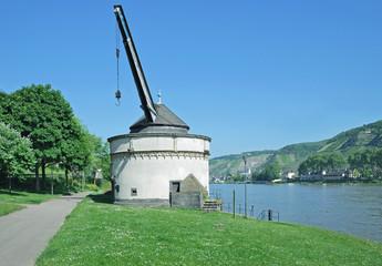 Wahrzeichen der Alte Krahnen in Andernach am Rhein