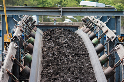 canvas print picture coal transportation line  for processing