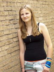 Young teenage girl looking sad or depressed