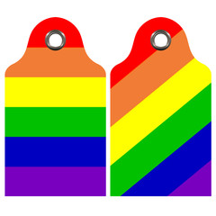 Rainbow Prices Tags - Commercial - Advertising -  Illustration