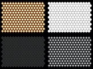 Realistic Hexagon Flood Lights