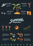 Summer infographics elements