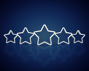 Silver outlined rating stars , Product quality