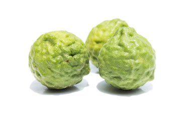 Bergamot fruits isolated on the white background