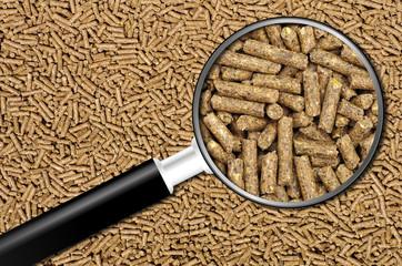 gros plan sur des granulés destinés à l'alimentation animale