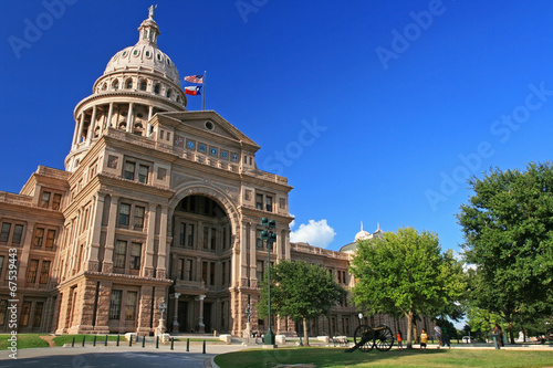In de dag Texas People visit Texas state capitol