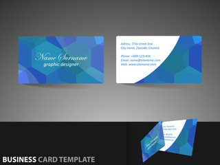 Modern professional business card template, visiting card