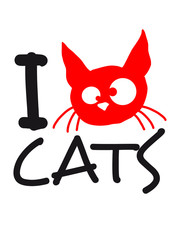 I Love Cats Logo