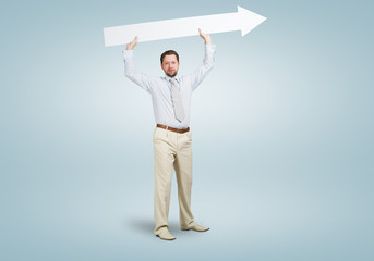 Businessman with arrow