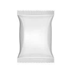 White blank foil food