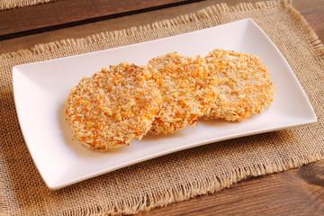 Sweet potato and panko breadcrumb veggie burgers