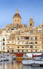 marina in old town of valetta malta