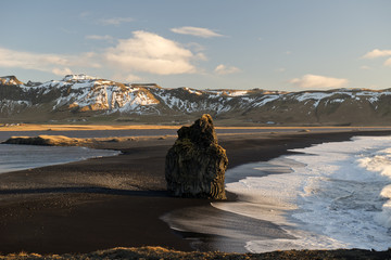 Black beach of Dyrholaey, Vik, Iceland