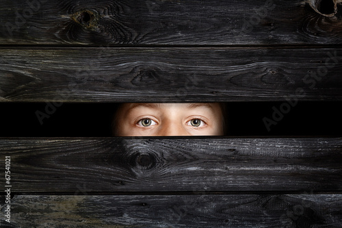 canvas print picture Hiding Child