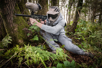 Paintball in the forest