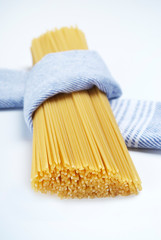 Spaghetti wrapped in cloth