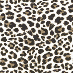 Leopard seamless pattern design, vector illustration background