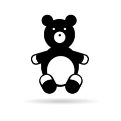 teddy bear black vector illustration