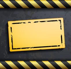 Metal warning vector background