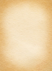 Old brown paper texture with vignette