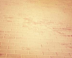 brick orange pavement in the city
