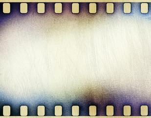 grunge scratched film strip background