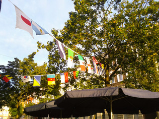 internationale fähnchenkette