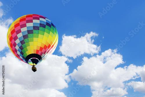 Deurstickers Ballon Heissluftballon