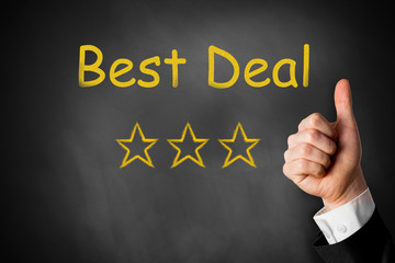 best deal thumbs up stars