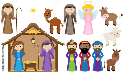 Vector Nativity Collection - 67544083