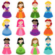 Vector Collection of Pretty Princesses - 67544279