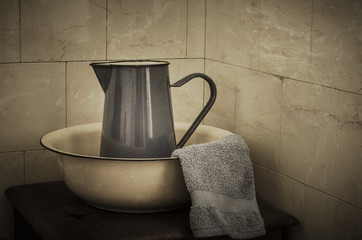 Wash Basin and Jug  - Retro