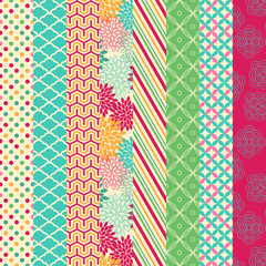 Vector Collection of Bright and Colorful Backgrounds or Digital
