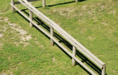 fence on grassy ground