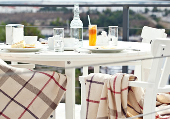 Yummy breakfast on the balcony