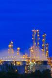 Refinery factory twilight