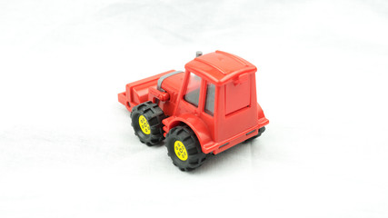 Heavy Construction Machinery Red Steam Roller Toy