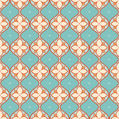 turquoise and beige pattern